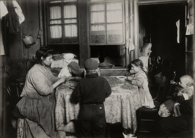 Lewis W. Hine (American, 1874-1940) 'Home Workers, New York' 1915