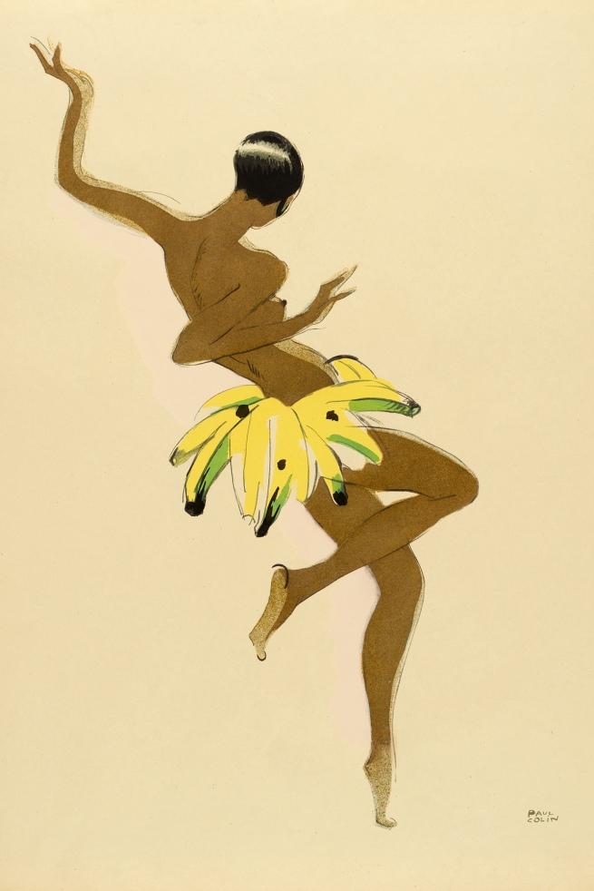 Paul Colin (1892-1985) 'Josephine Baker in a Banana Skirt' 1927