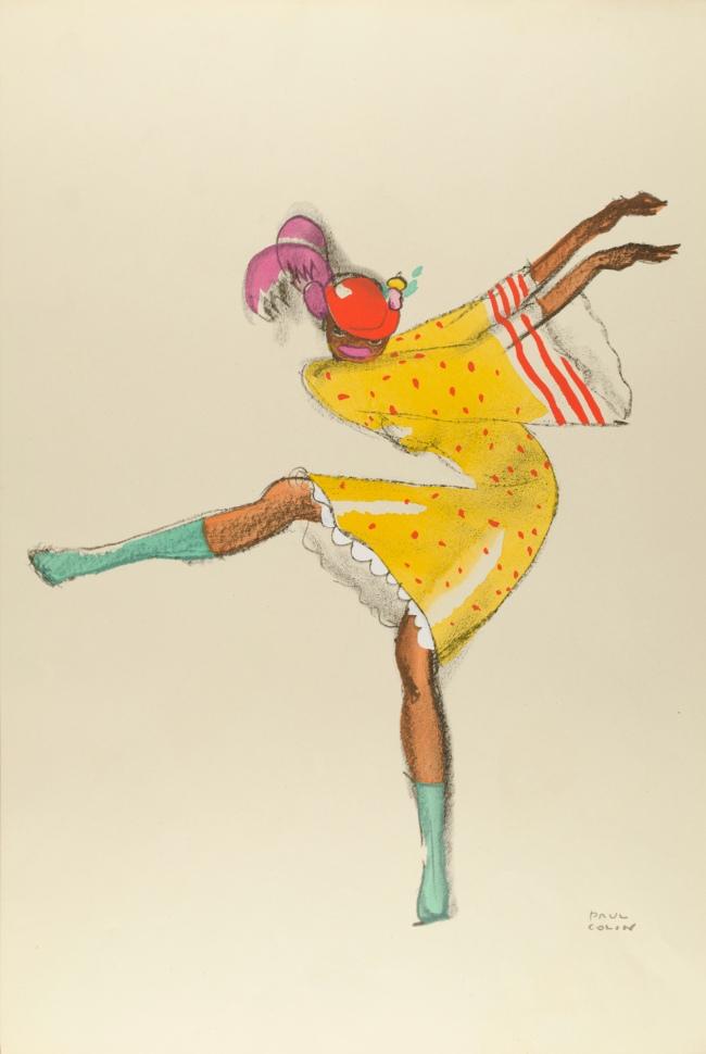 Paul Colin (1892-1985) 'Josephine Baker, dancing' 1927