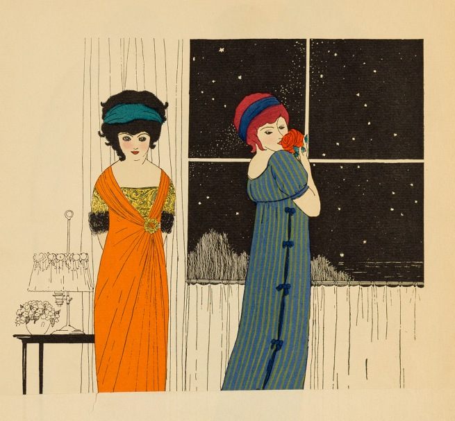 Paul Iribe (1883-1935) Illustration of 'Les Robes des Paul Poiret' 1908