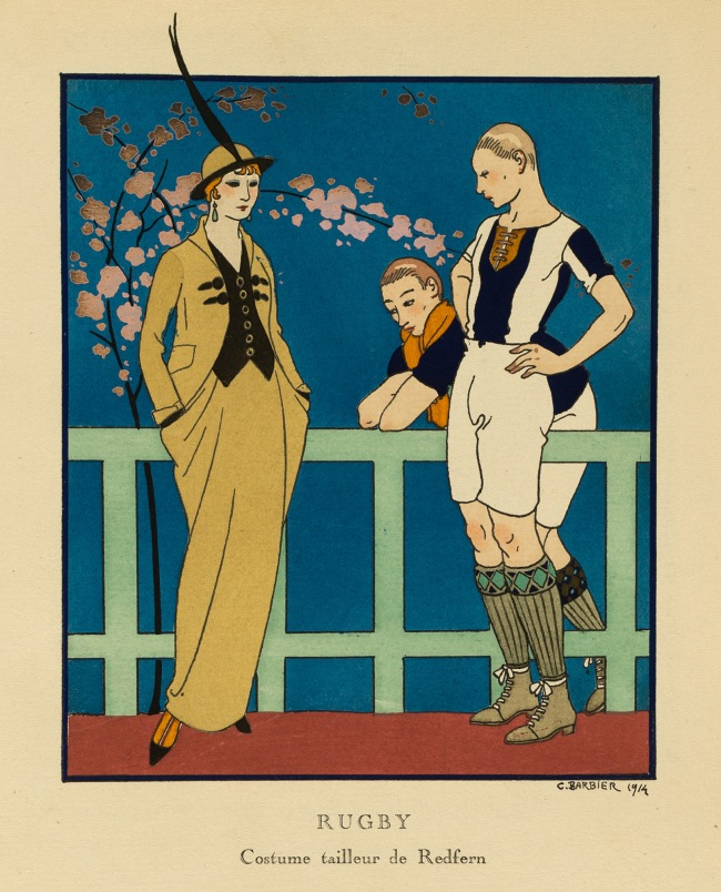 Georges Lepape (1887-1971) 'Rugby (Waisted Costume by Redfern)' 1914