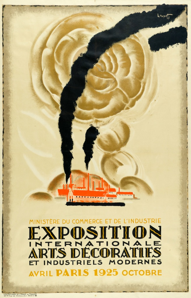 Charles Loupot (1892-1962) 'Official Poster for the International Exhibition of Decorative Arts' 1925