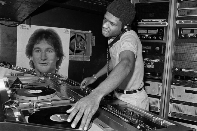 DJ Larry Levan in Paradise Garage, New York, 1979