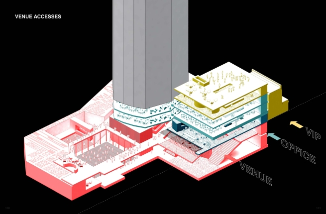 OMA/Rem Koolhaas. 'Isometric Plan Ministry of Sound II' London, 2015