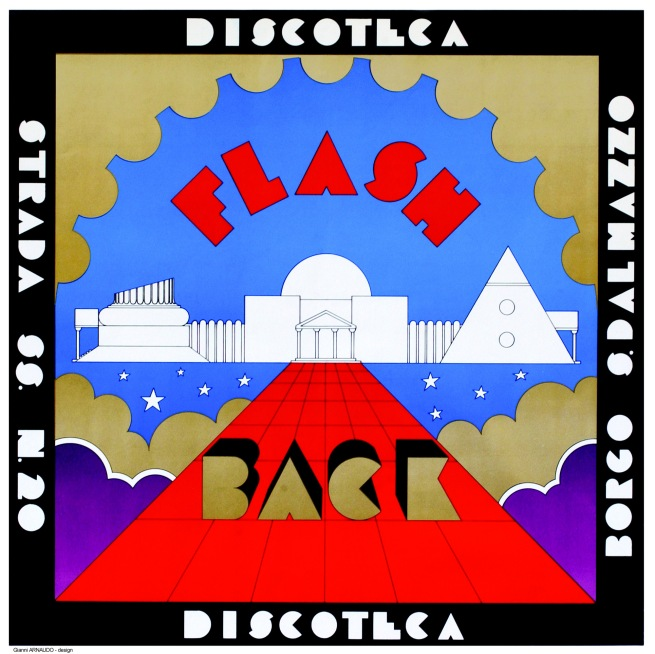 'Poster for the Discotheque Flash Back' Borgo San Dalmazzo, 1972