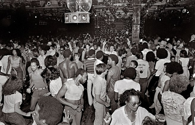 'Dance floor at Paradise Garage' New York, 1978