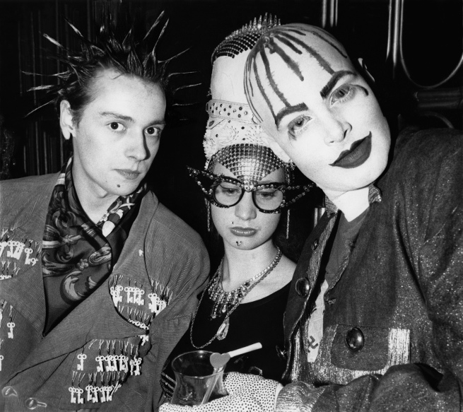 'Trojan, Nichola and Leigh Bowery at Taboo' 1985