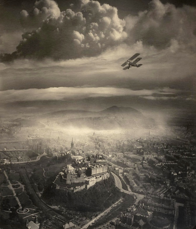 Alfred G. Buckham (1879-1956) 'Aerial view of Edinburgh' c. 1920