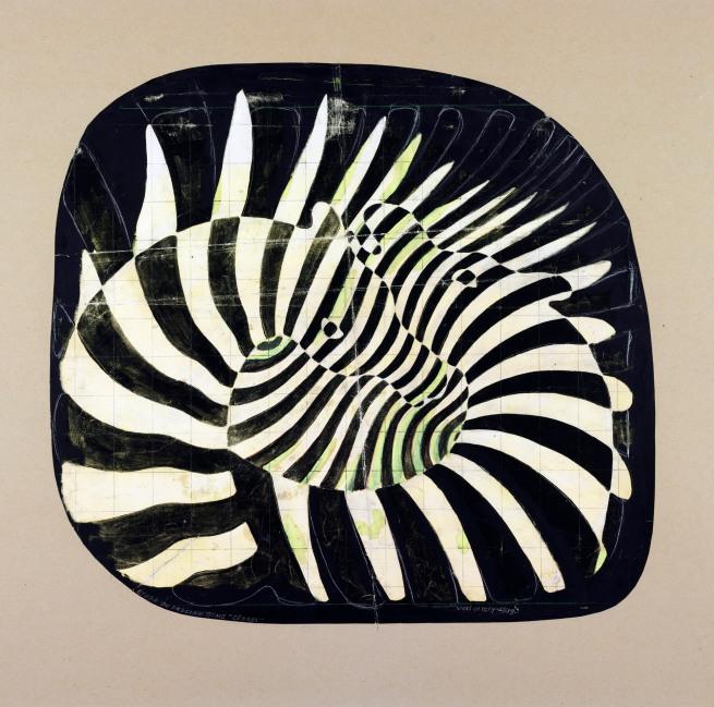 Victor Vasarely. 'Cébras - Estudio precinético'(Zebras. Prekinetic Study) 1939