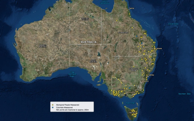 Colonial Frontier Massacres in Eastern Australia 1788-1872 from The Centre for 21st Century Humanities, The University of Newcastle