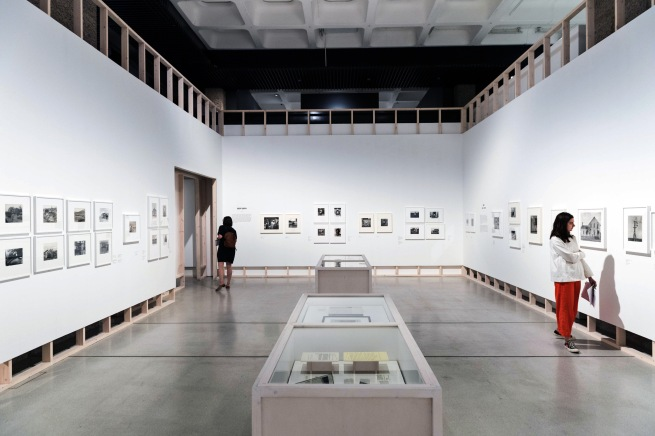 Installation view of the exhibition 'Dorothea Lange: Politics of Seeing' at the Barbican Art Gallery, London