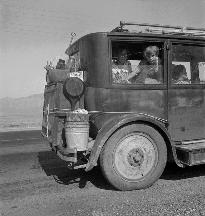 Dorothea Lange. 'Cars on the Road' August 1936