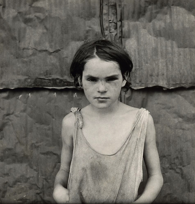 Dorothea Lange. 'Damaged Child, Shacktown, Elm Grove, Oklahoma' 1936