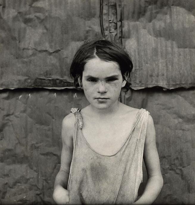 Dorothea Lange. 'Damaged Child, Shacktown, Elm Grove, Oklahoma' 1936