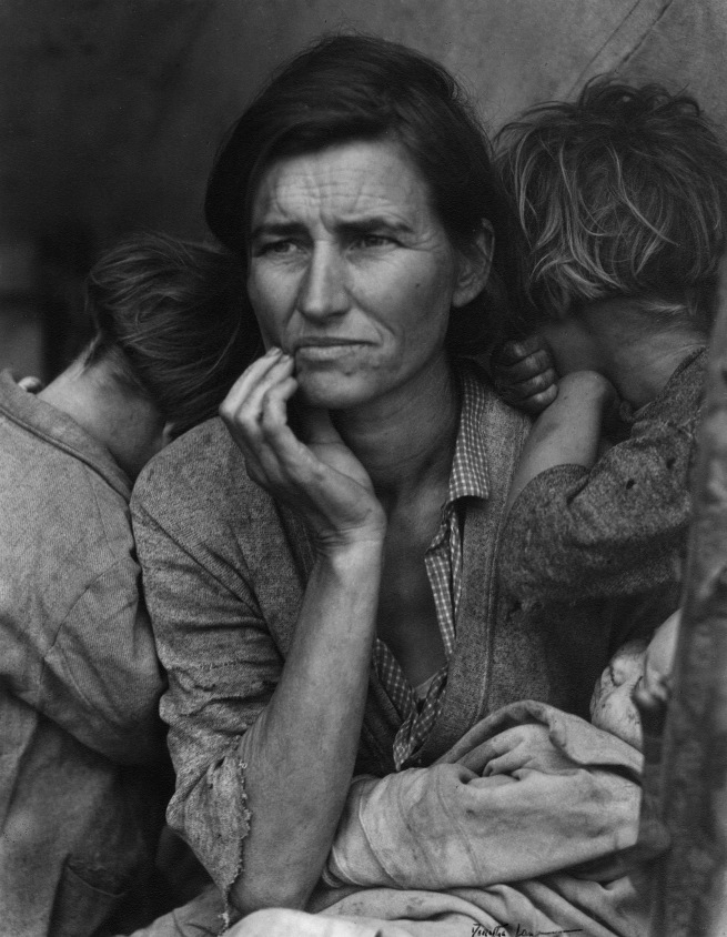 Dorothea Lange. 'Migrant Mother, Nipomo, California' 1936
