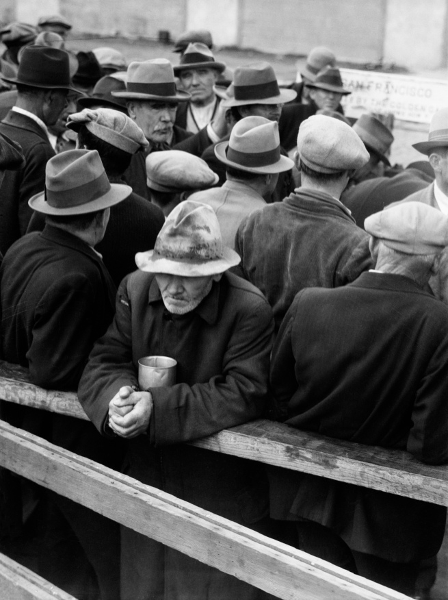 Dorothea Lange. 'White Angel Breadline, San Francisco' 1933