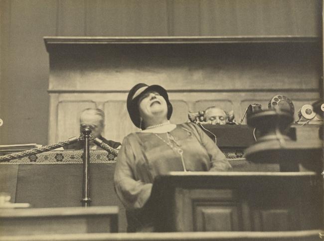 Erich Salomon (German, 1886-1944) '[Portrait of Madame Vacarescu, Romanian Author and Deputy to the League of Nations, Geneva]' 1928
