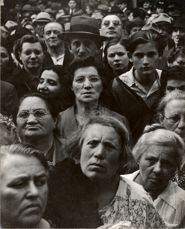 Lisette Model (American, born Austria, 1901-1983) '[War Rally]' 1942