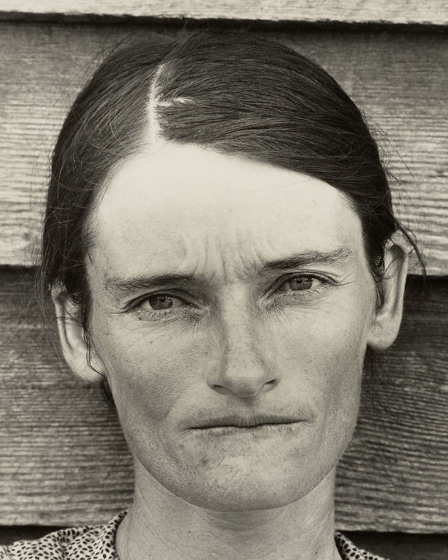 Walker Evans (American, 1903-1975) 'Allie Mae Burroughs, Hale County, Alabama' Negative 1936; print 1950s (detail)