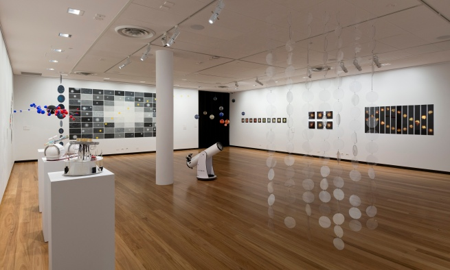 Installation view of gallery one at the exhibition'Deeper Darker Brighter' at Town Hall Gallery, Hawthorn Arts Centre, Melbourne