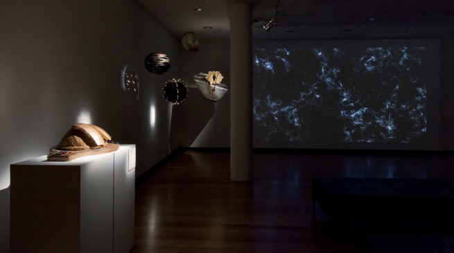 Installation view of gallery two at the exhibition'Deeper Darker Brighter' at Town Hall Gallery, Hawthorn Arts Centre, Melbourne