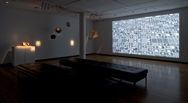 Installation view of gallery two at the exhibition 'Deeper Darker Brighter' at Town Hall Gallery, Hawthorn Arts Centre, Melbourne
