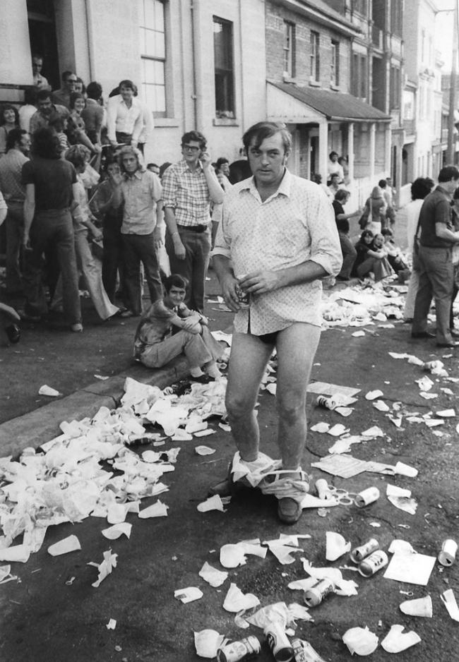 John Williams(1933- 2016) 'Rocks Pub Crawl, Sydney' 1973