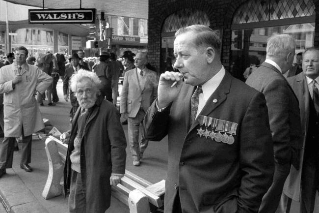 John Williams(1933- 2016) 'Anzac Day, Melbourne' 1965