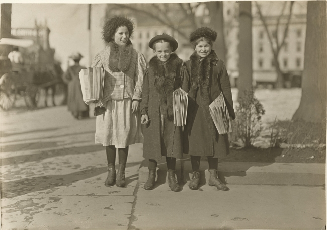 Lewis W. Hine (American, 1874-1940) 'Connecticut Newsgirls' c. 1912-1913