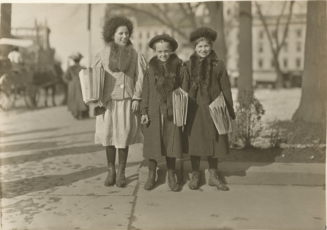 Lewis W. Hine (American, 1874-1940) 'Connecticut Newsgirls' c. 1912-1913