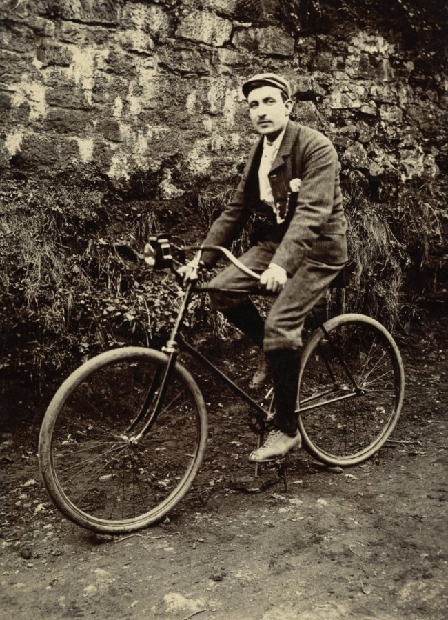 Unknown. 'Man on a Bicycle' c. 1910