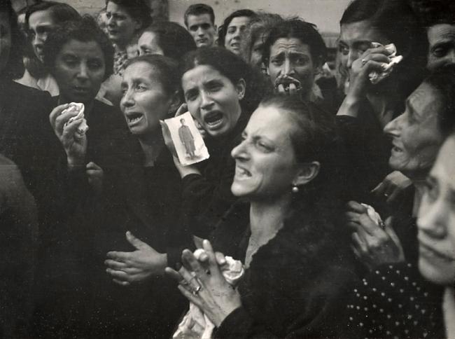 Robert Capa (American, born Hungary, 1913-1954) 'Second World War, Naples' October 2, 1943