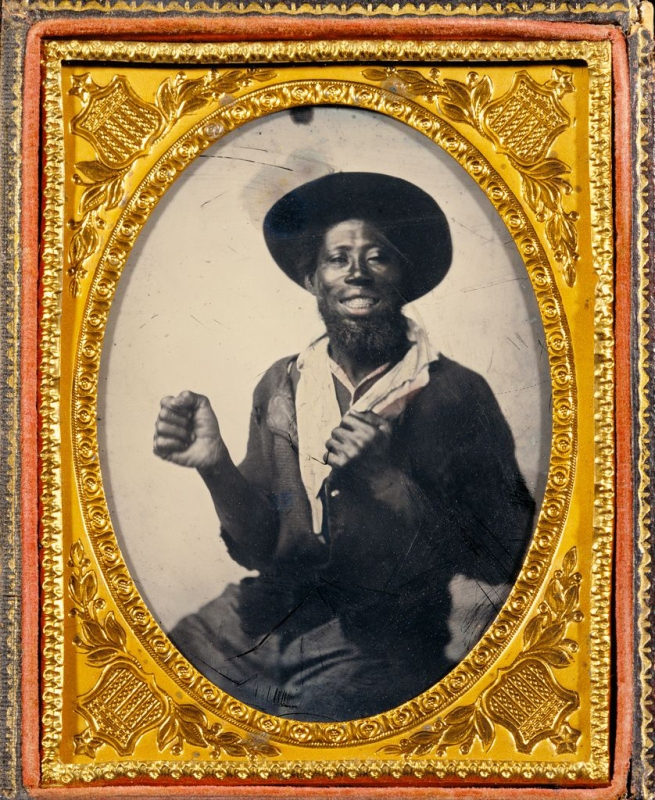 Unknown maker (American) '[Smiling Man]' 1860