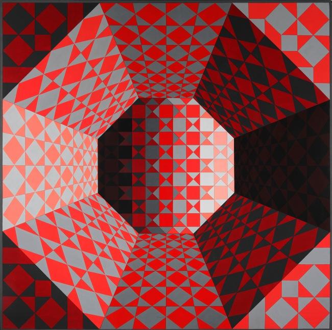 Victor Vasarely. 'Bi-Octans' 1979