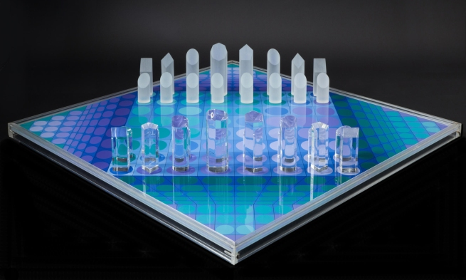 Victor Vasarely. 'Ajedrez' (Chess Set) 1980