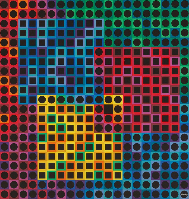 Victor Vasarely. 'Orion noir' 1970