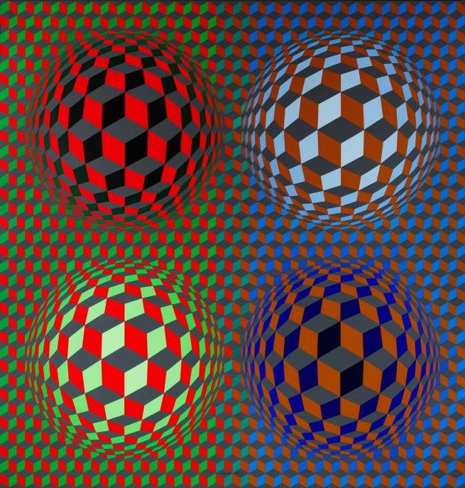 Victor Vasarely. 'Stri-Oet' 1979