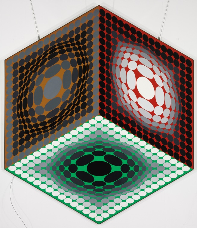 Victor Vasarely. 'Trybox' 1979