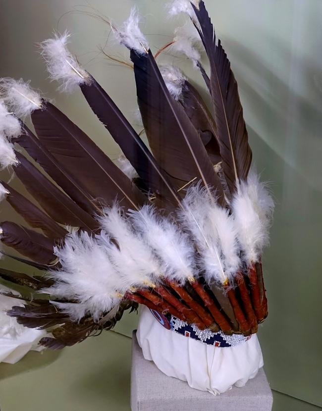 Unknown maker (Native American) 'War bonnet, Plains Indian style' c. 1900