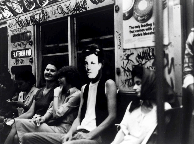David Wojnarowicz (1954-1992) 'Arthur Rimbaud in New York (On Subway)' 1978-79 (printed 1990)