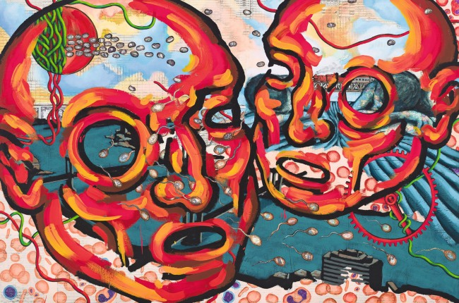 David Wojnarowicz (1954-1992) 'Das Reingold: New York Schism' 1987