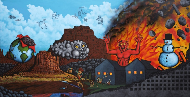 David Wojnarowicz (1954-1992) 'Earth, Wind, Fire, and Water' 1986