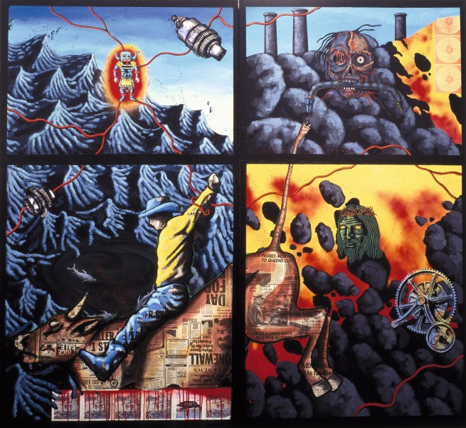David Wojnarowicz (1954-1992) 'The Death of American Spirituality' 1987
