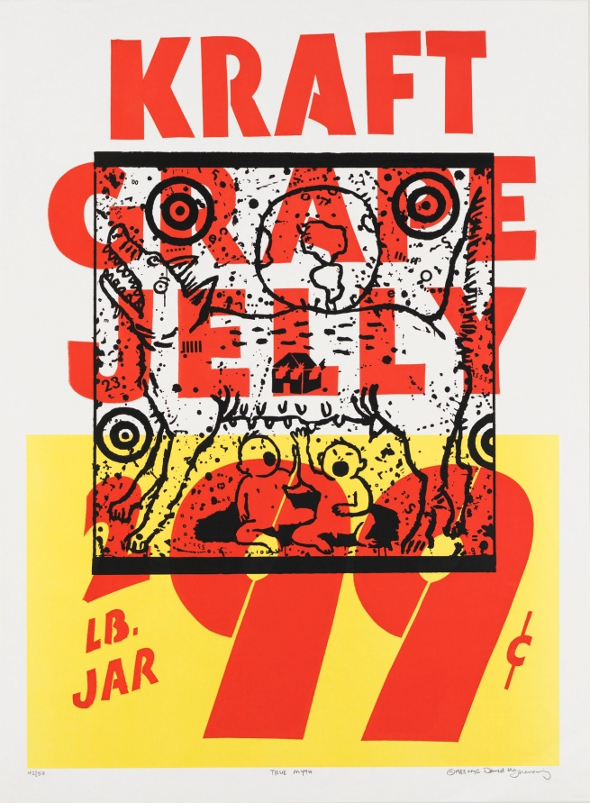 David Wojnarowicz (1954-1992) 'True Myth (Kraft Grape Jelly)' 1983