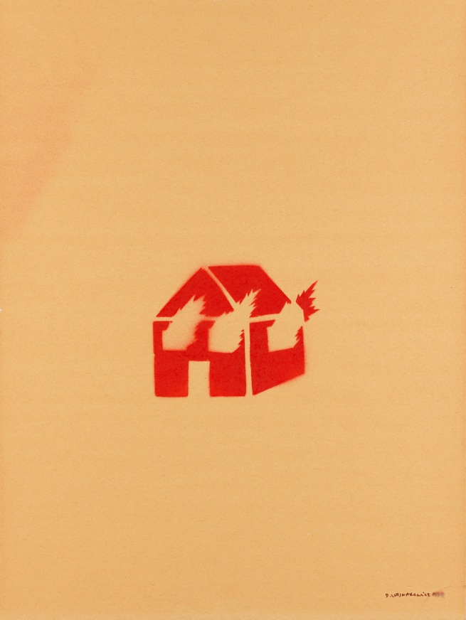 David Wojnarowicz (1954-1992) 'Untitled (Burning House)' 1982