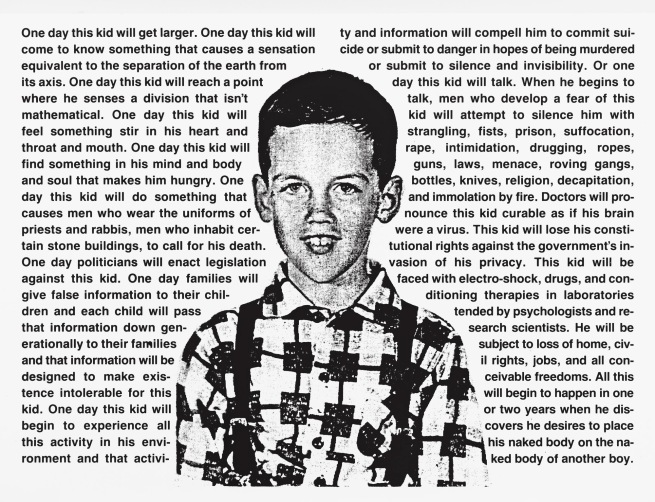 David Wojnarowicz (1954–1992) 'Untitled (One Day This Kid...)' 1990-91