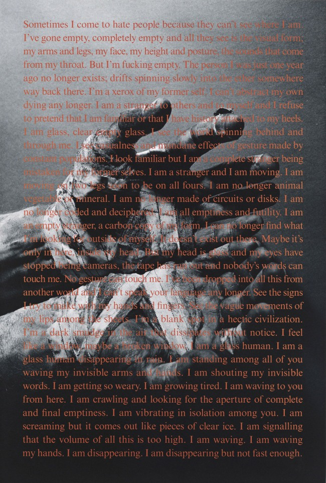 David Wojnarowicz (1954-1992) 'Untitled (Sometimes I Come to Hate People)' 1992