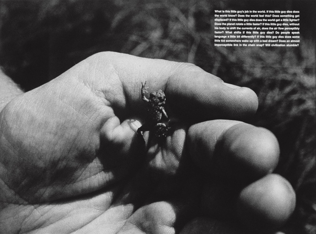 David Wojnarowicz (1954-1992) 'What Is This Little Guy's Job in the World' 1990