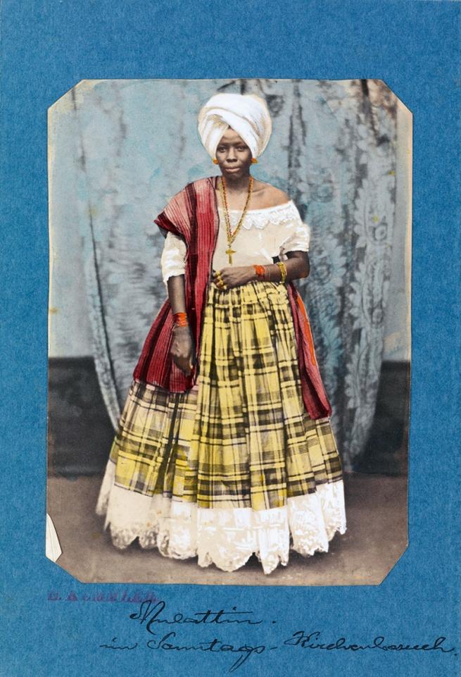 Hermann Kummler (compiler) (1863-1949) 'Mullatin [Portrait of a Indigenous Brazilian woman wearing a cross]' 1861-1862