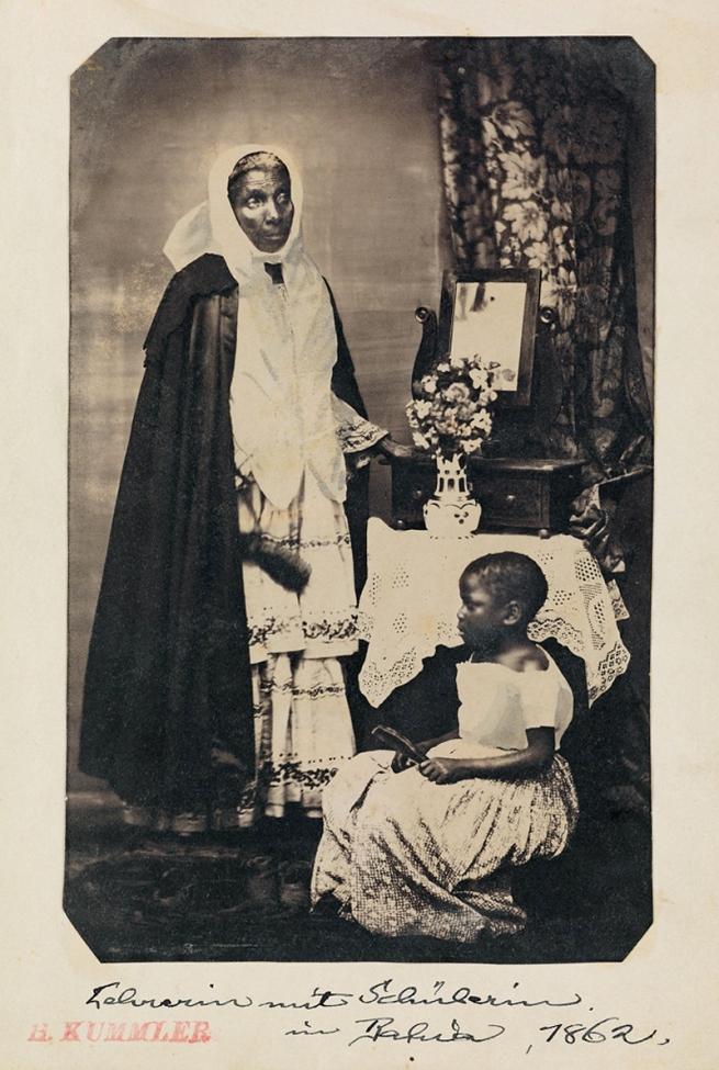 Hermann Kummler (compiler) (1863-1949) '[Lehrerinmit Schülerin im Bahia / Teacher with a schoolgirl in Bahia]' 1861-1862